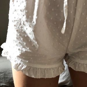 Gap Swiss Dot Ruffle Shorts